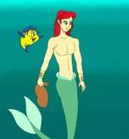 Ariel and Floundra by Water-Fan2090