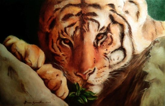 Tiger - Oil Painting by Niruh
