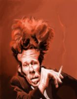 Tom Waits Sketch by DoodleArtStudios