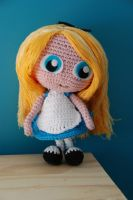 Crochet : Alice in wonderland by Ahookamigurumi