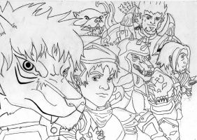 What an alliance lineart by Soberbia-Roy
