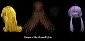 MMD hairpack3+DL by Sefina-NZ