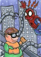 Spidey vs Doc Ock by johnnyism