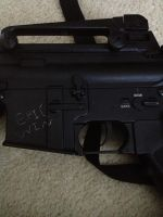 Epic Carving on my Airsoft Rifle by Epicninja117
