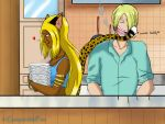Romantic washing-up by GueparddeFeu
