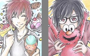 ::Candyworld with Elmo-chan by Wotamin