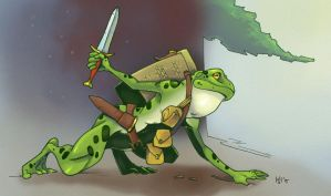 Bullywug scout by Pachycrocuta