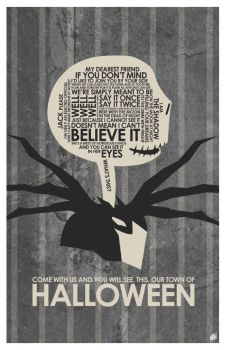 Nightmare Before Christmas Quote Poster by outnerdme