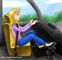 Driving girl by Airy-F