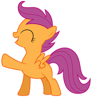 Scootaloo Being Happy by Ready2Fail
