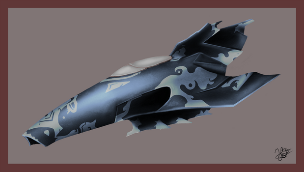 Space ship concept  art by Heart-0f-Darkness