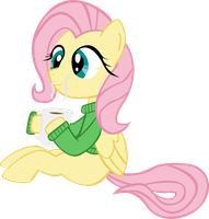 Fluttershy's Morning Coffee by Laffy372