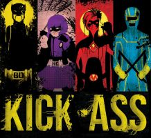 Kick-Ass Bookmarks by claushiru