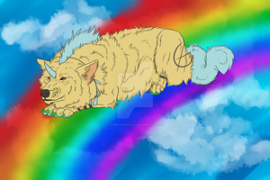 Art Contest Entry for WoolNoon PREVIEW by CrimsonnWolfe