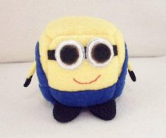 Despicable Me Minion Cube Plushie by Cube-lees