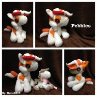 Gift: Pebbles the Plush by kalie0216