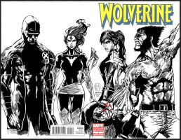 Wolverine And The X Men Commission By Icicle-inked by triple--eight
