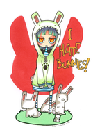 I hate bunnies by Valerei
