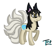 Ahri Pony (coloured lines) by Lionstryke
