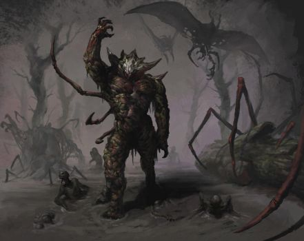 swamp demon + friends by SirHanselot
