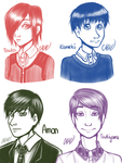Tokyo Ghoul - fav characters by MikiMonster