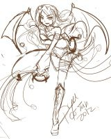 Mirash succubus sketch by YuikoHeartless