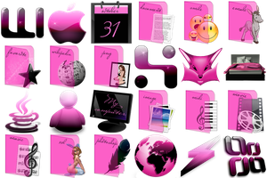 Pink Emotion Icons - deliverme by kremko