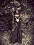 The Witch Prepares For Halloween by Estruda