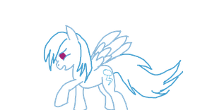 Filly Rainbow Dash line art (Free to use) by WoefulWriters