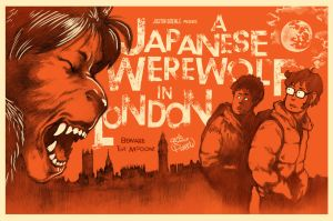 Japanese Werewolf in London Poster by Pakeet