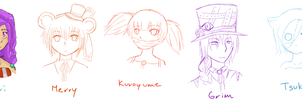 RtP: Here's some characters yo by TheMangaWitch