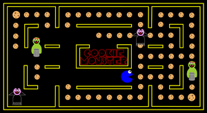 Getting cookies - Pacman style by Stephy-McFly