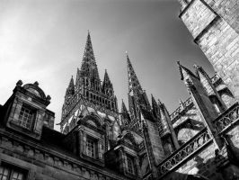 Cathedral in black and white by kakobrutus