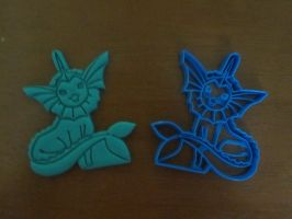 Vaporeon Cookie Cutter 02 by B2Squared