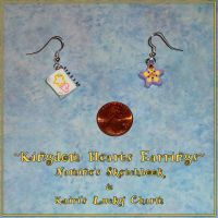 Kingdom Hearts - Kairi and Namine Charm Earrings by YellerCrakka
