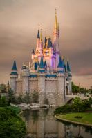 Cinderella's Castle at Dusk by Earth-Divine