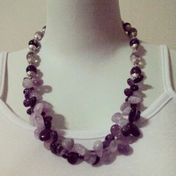 necklace fluorite by dyasmita