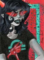 GIFT ATC: Swagger of A Blind Girl by CosmicCherry
