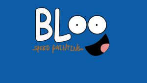 Bloo speed drawing title card/ thumbnail by IDROIDMONKEY