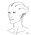 Asari Linework [FREE TO USE!] by JesterDK
