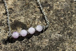 Lavender Amethyst Bead Necklace by Clerdy