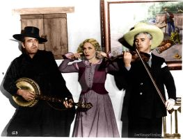 Doug Fairbanks, Mary Pickford, and Chas Chaplin by NatasiaVerdoux