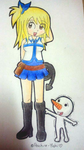 Lucy and Plue by Peach-X-Yoshi