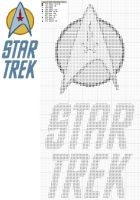 Star Trek Logo Cross Stitch by black-lupin