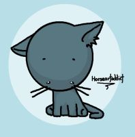 Gray Kitti Plushie by horseartaddict