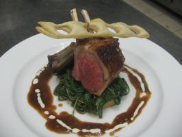 Lamb Rack With Spinach by flame13th