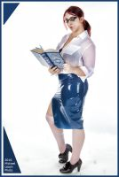 MLP JennM Librarian Latex Skirt Oct13 7111 by MichaelLeachPhoto