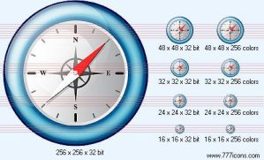 Compass v2 Icon by navigation-icons