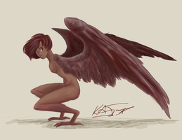 Red Harpy by Blue-Starr