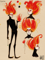 Calcifer sketches by hazumonster